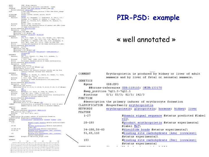 PIR-PSD: example