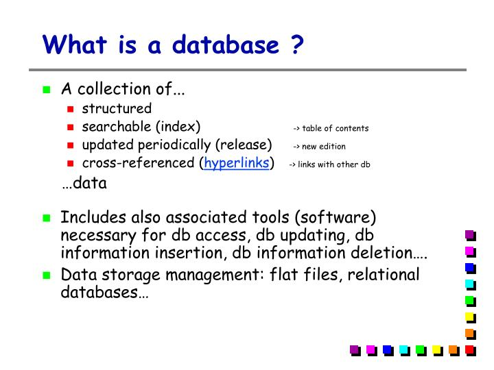 What is a database ?