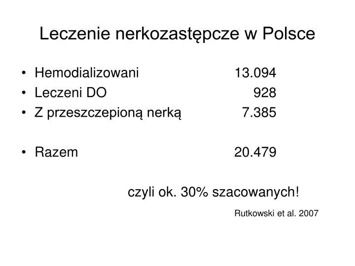 Leczenie nerkozastępcze w Polsce