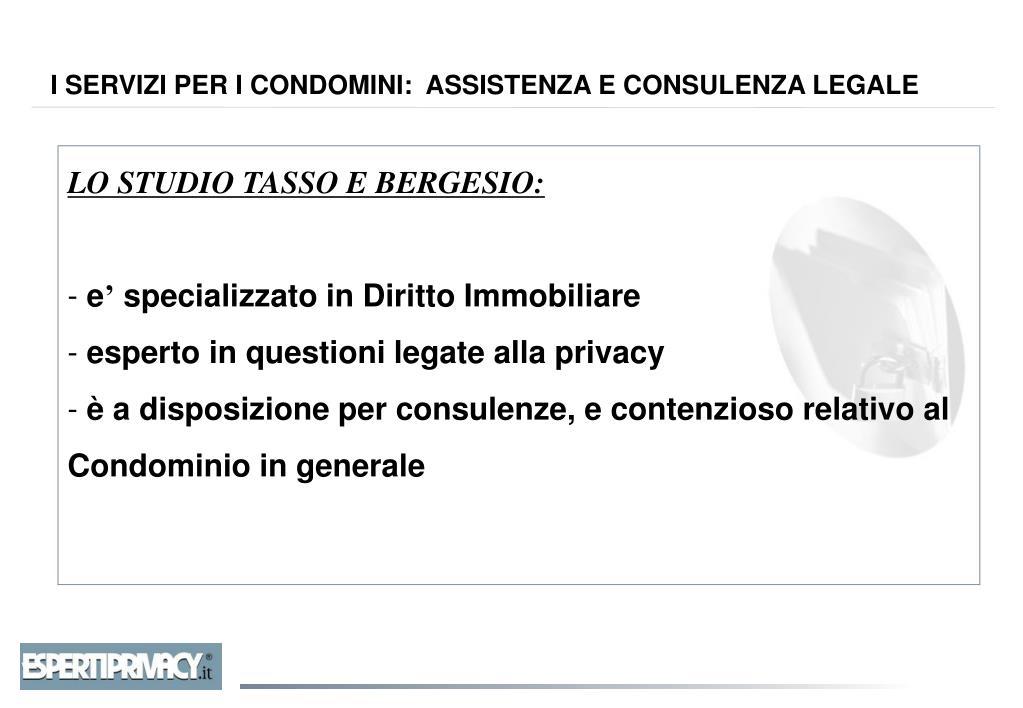 LO STUDIO TASSO E BERGESIO:
