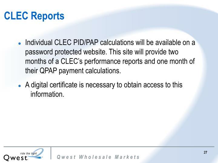 CLEC Reports