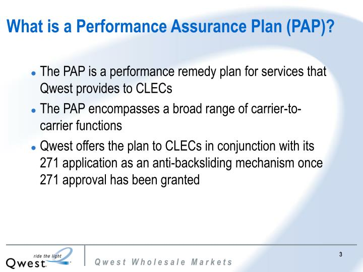 What is a Performance Assurance Plan (PAP)?