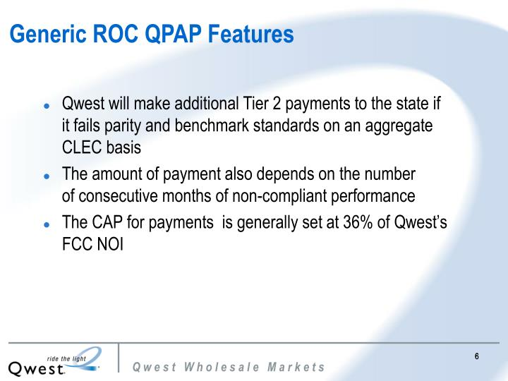 Generic ROC QPAP Features