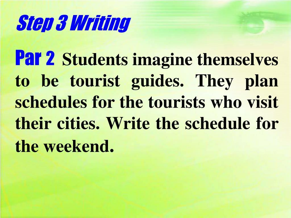 Step 3 Writing