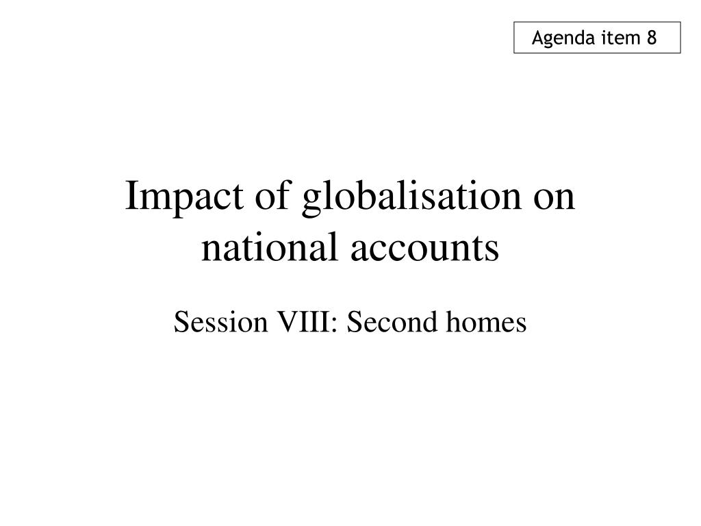 impact of globalisation on national accounts