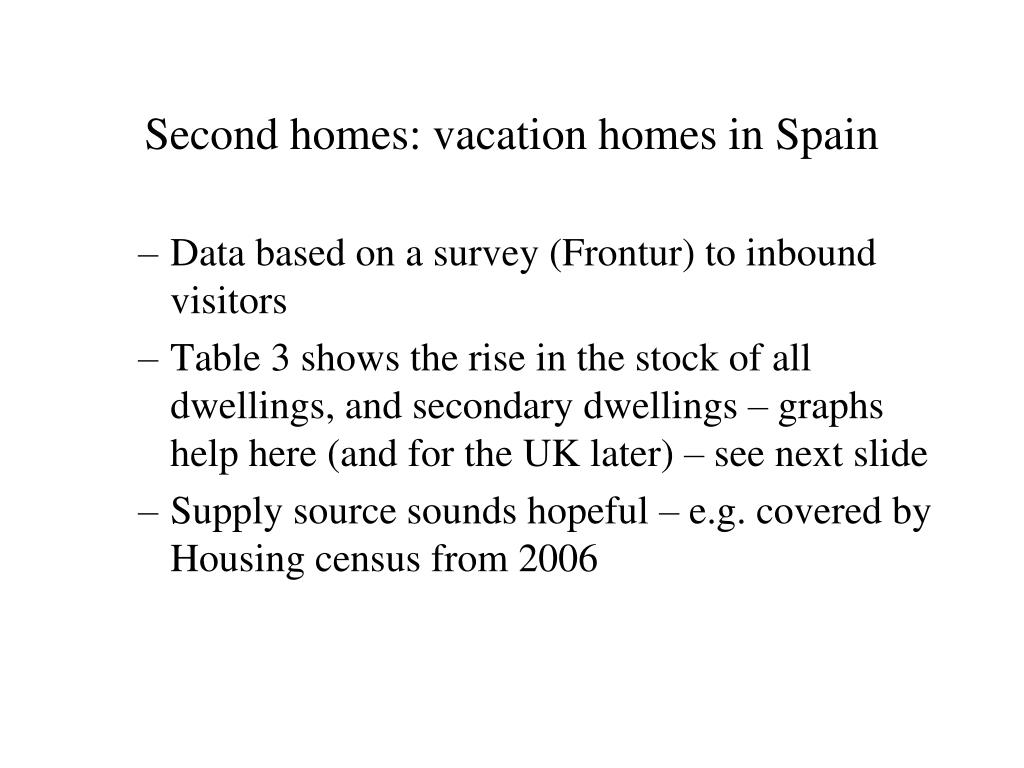 Second homes: vacation homes in Spain