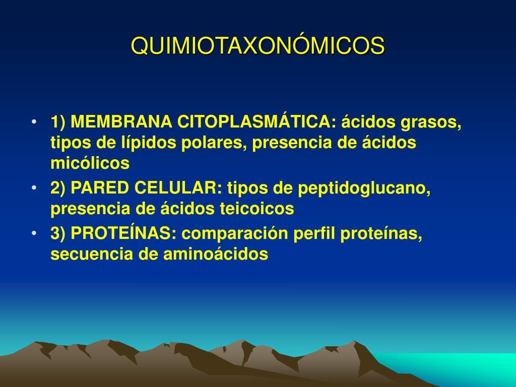 QUIMIOTAXONÓMICOS