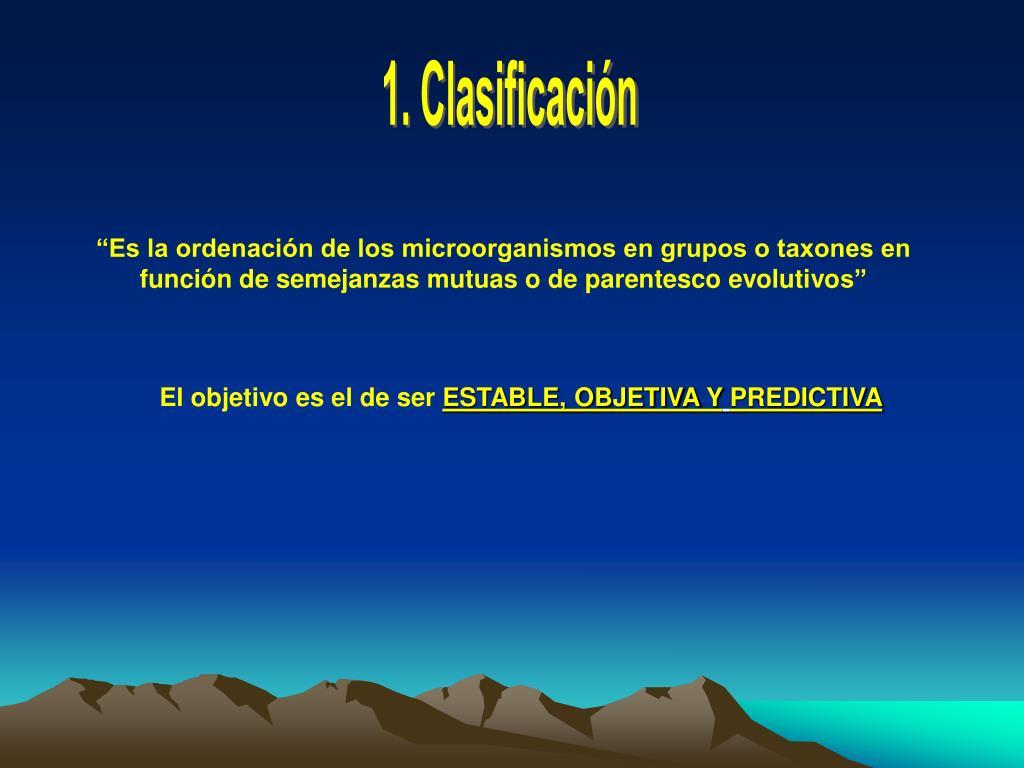 1. Clasificación