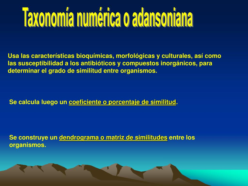 Taxonomía numérica o adansoniana