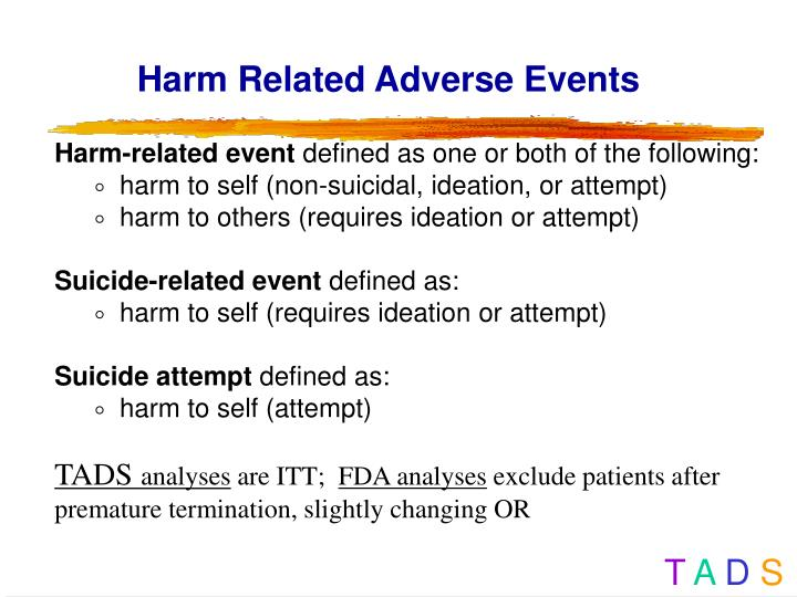 Harm Related Adverse Events