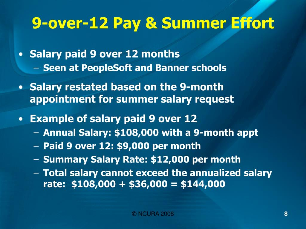 9-over-12 Pay & Summer Effort