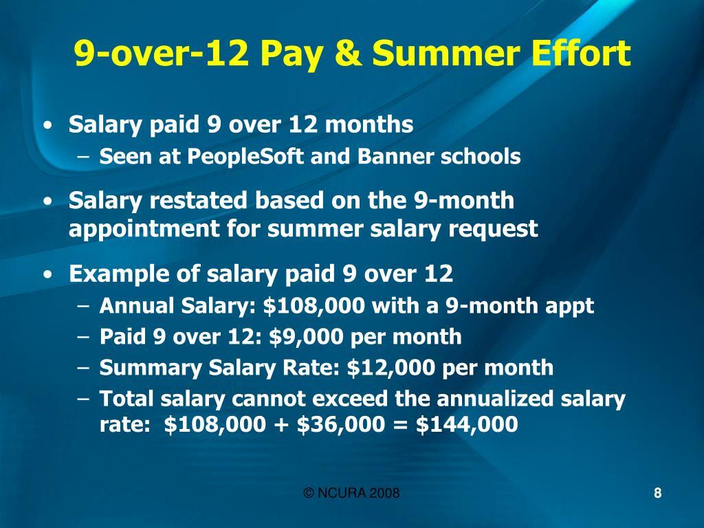 9-over-12 Pay & Summer Effort