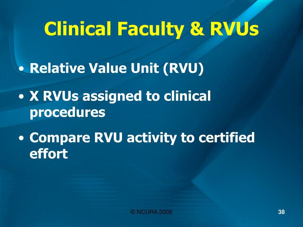 Clinical Faculty & RVUs