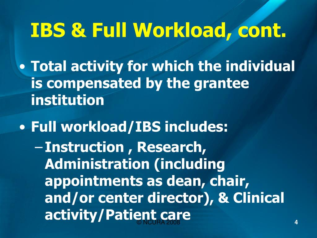IBS & Full Workload, cont.