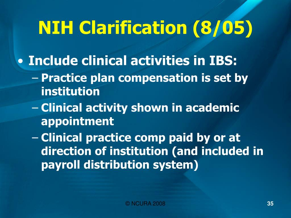 NIH Clarification (8/05)