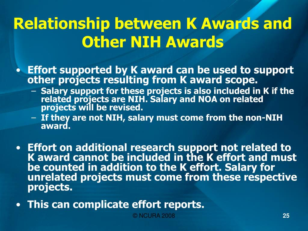Relationship between K Awards and Other NIH Awards