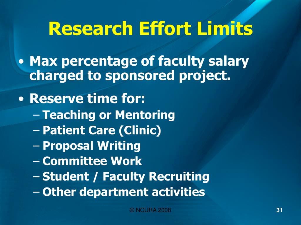 Research Effort Limits