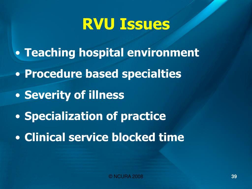 RVU Issues