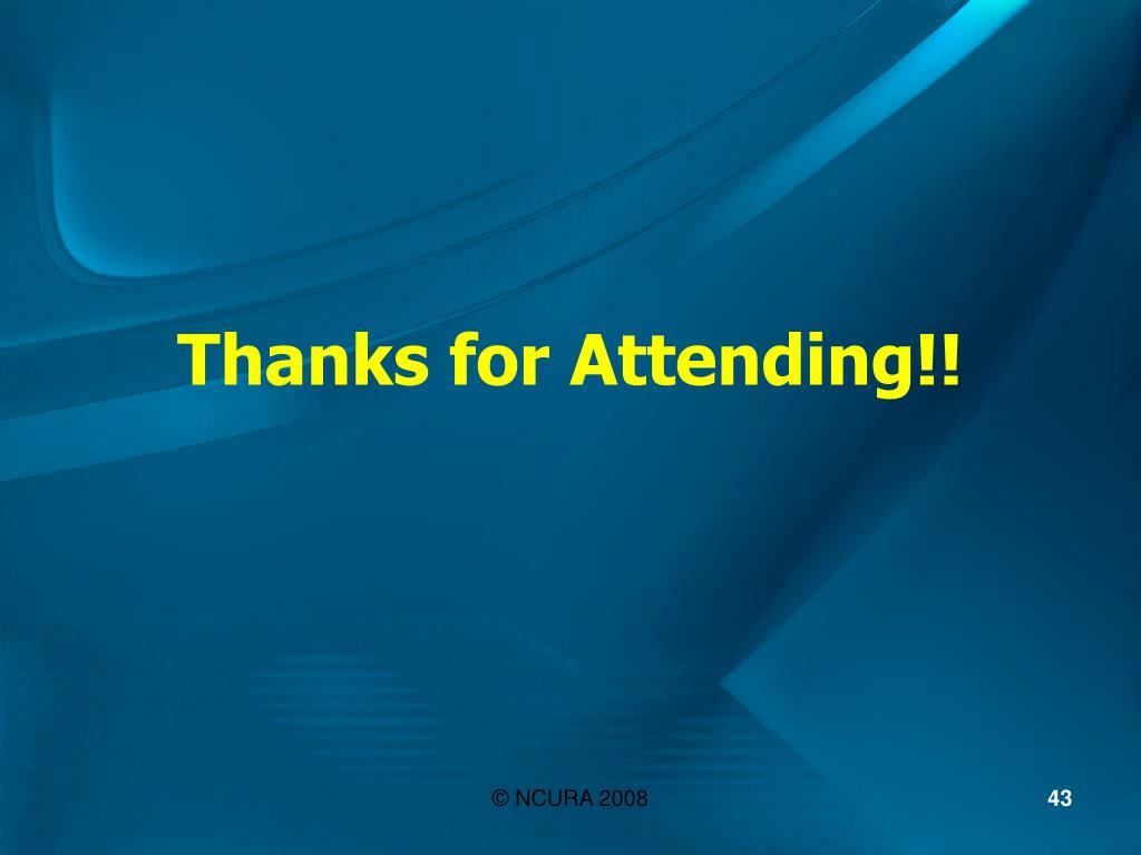 Thanks for Attending!!