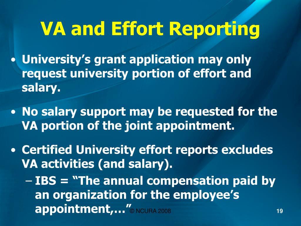 VA and Effort Reporting