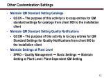 other customization settings