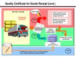 quality certificate for goods receipt cont