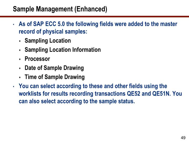 Sample Management (Enhanced)