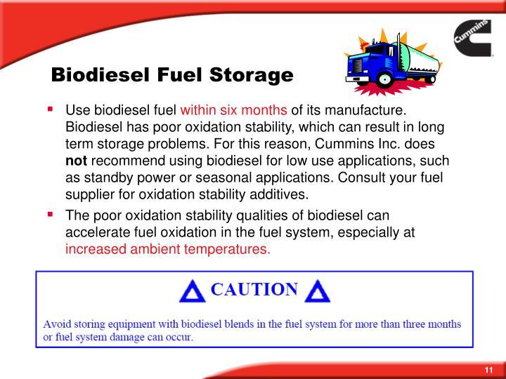 Biodiesel Fuel Storage