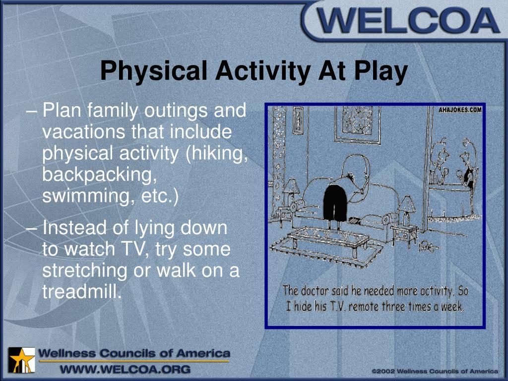 Physical Activity At Play