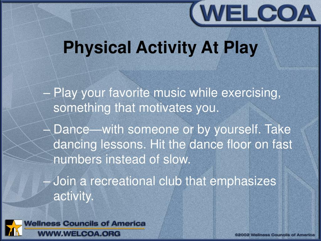 Physical Activity At Play
