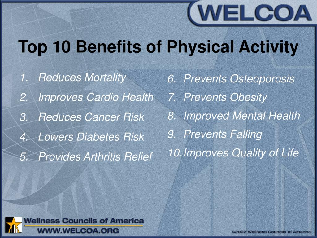 Top 10 Benefits of Physical Activity