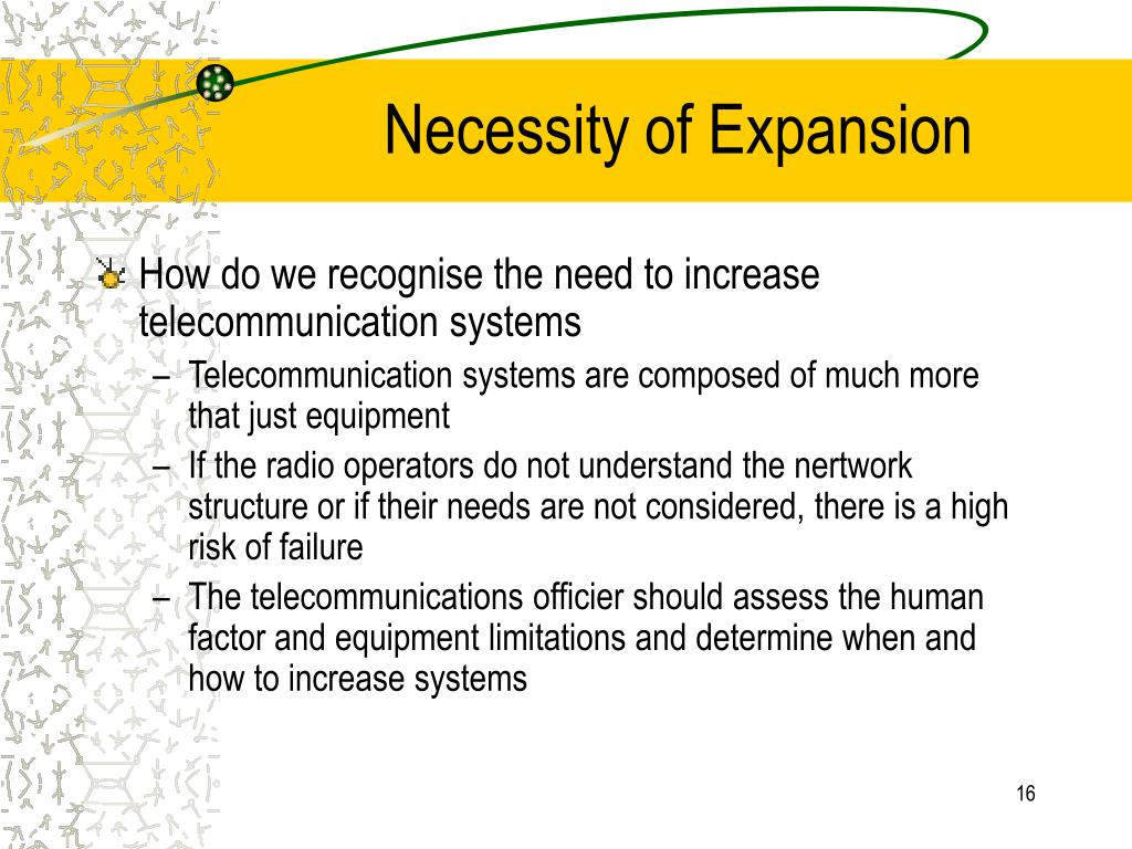 Necessity of Expansion