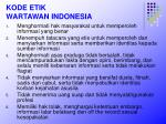 kode etik wartawan indonesia