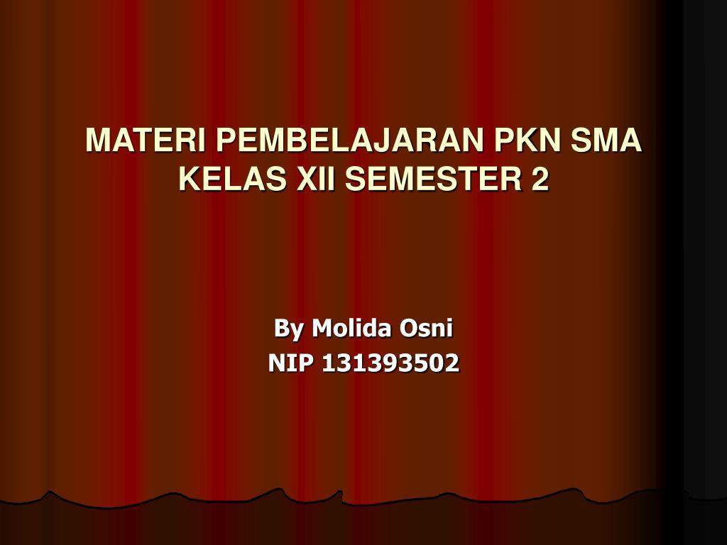 materi pembelajaran pkn sma kelas xii semester 2