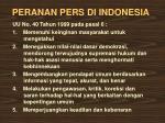 peranan pers di indonesia