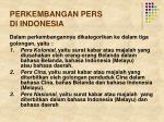 perkembangan pers di indonesia