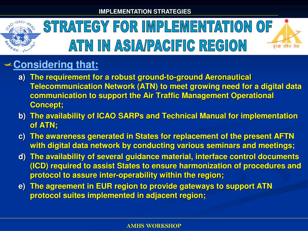 STRATEGY FOR IMPLEMENTATION OF