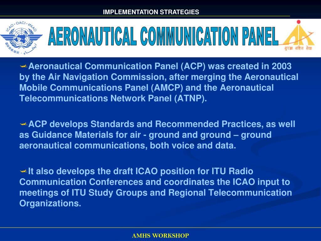 AERONAUTICAL COMMUNICATION PANEL