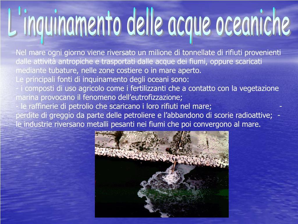 L'inquinamento delle acque oceaniche