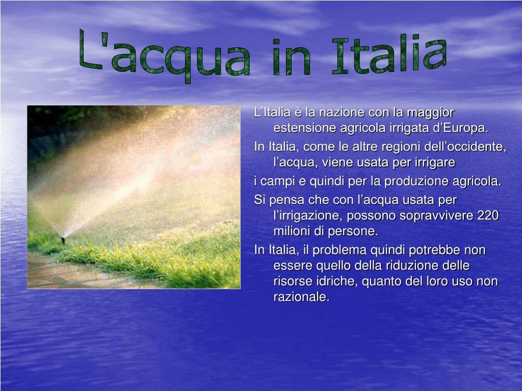 L'acqua in Italia