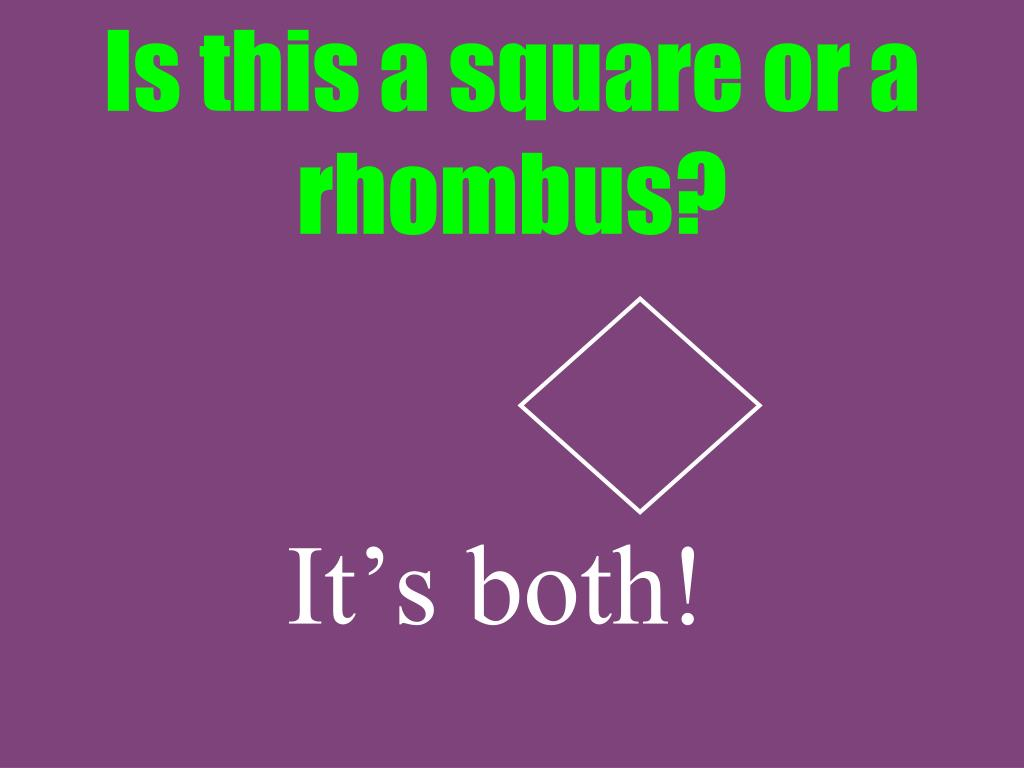 Is this a square or a rhombus?