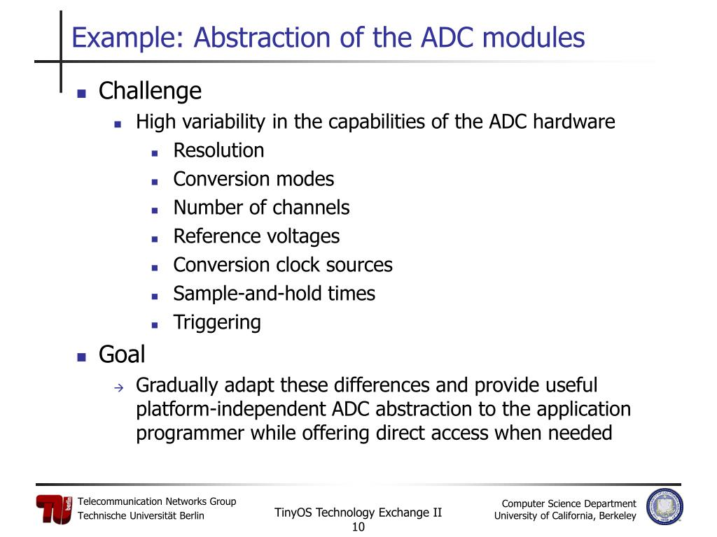 Example: Abstraction of the ADC modules