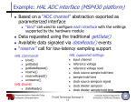 example hal adc interface msp430 platform