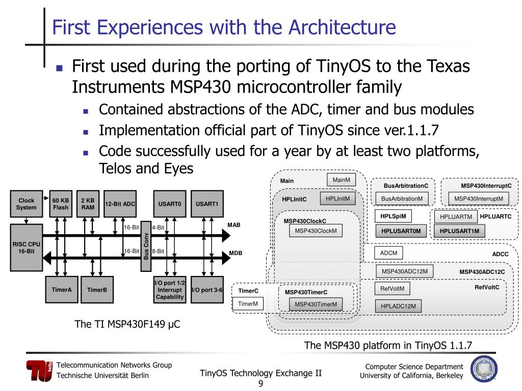 First used during the porting of TinyOS to the Texas Instruments MSP430 microcontroller family