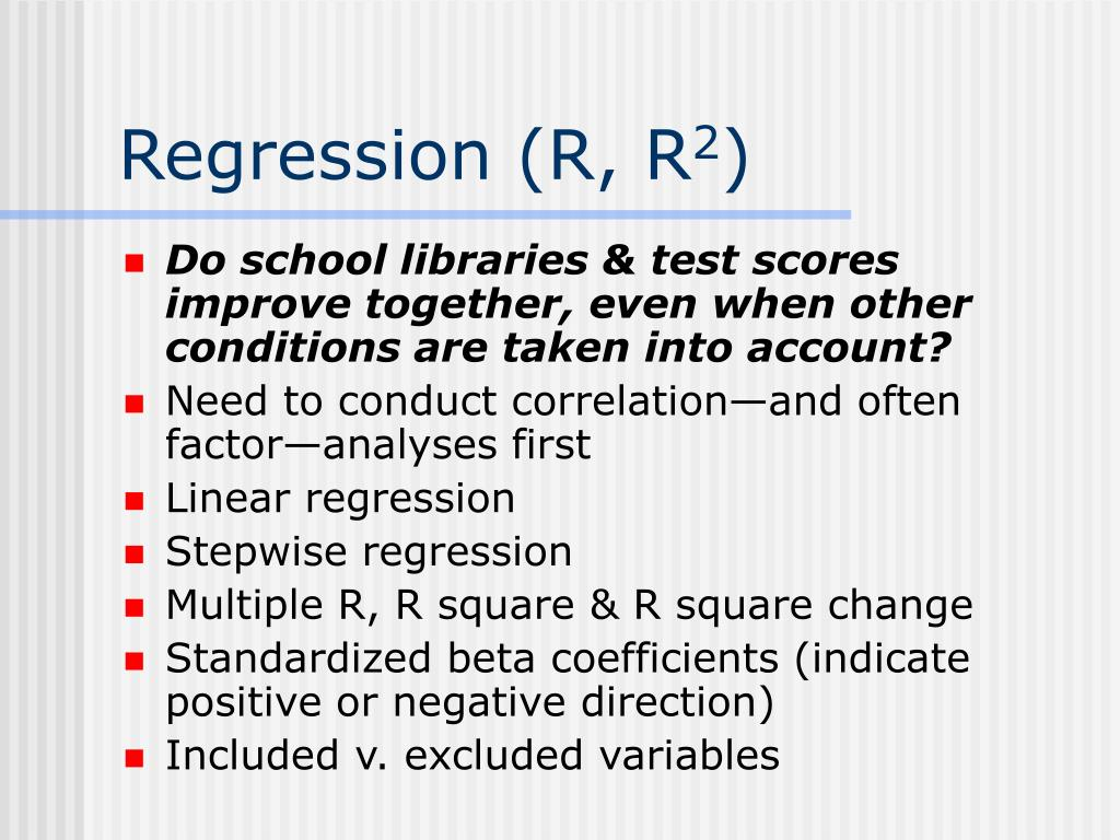 Regression (R, R