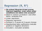 regression r r 2