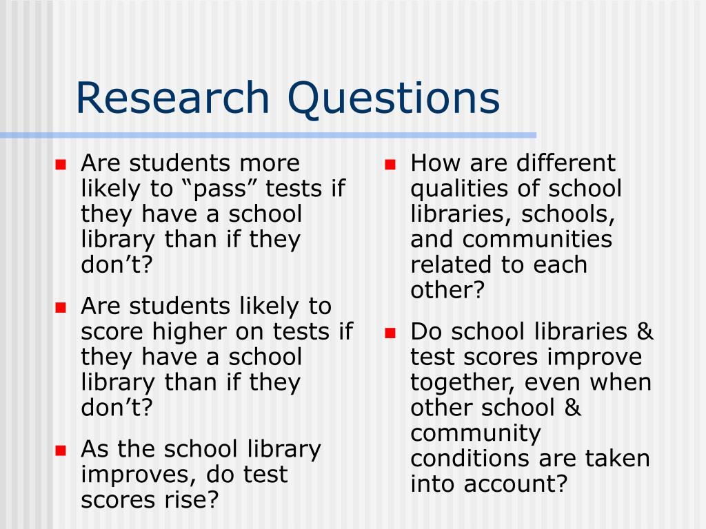 "Are students more likely to ""pass"" tests if they have a school library than if they don't?"