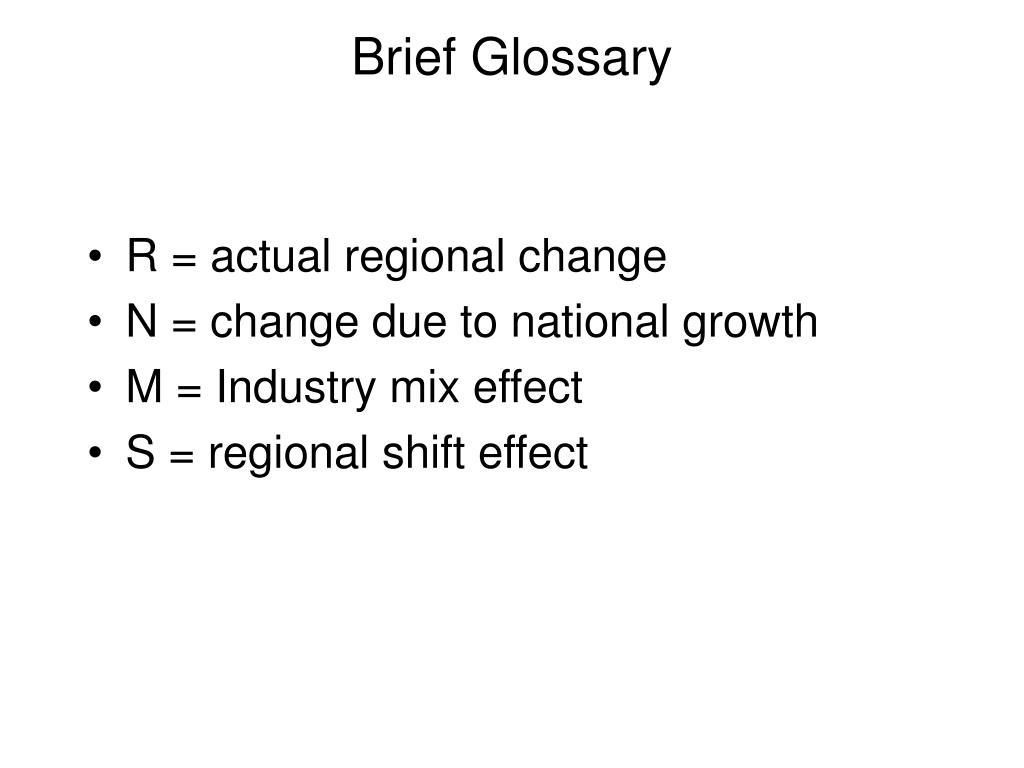 Brief Glossary