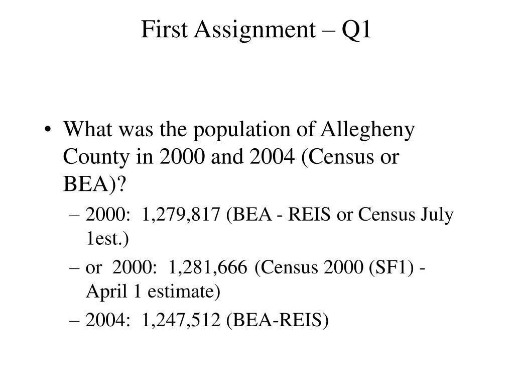First Assignment – Q1