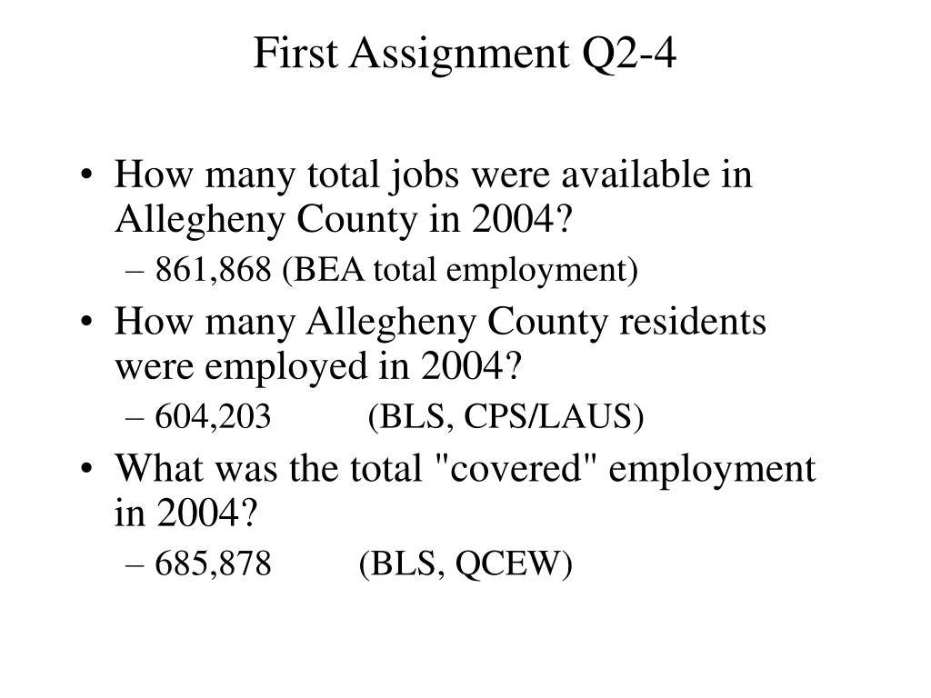 First Assignment Q2-4